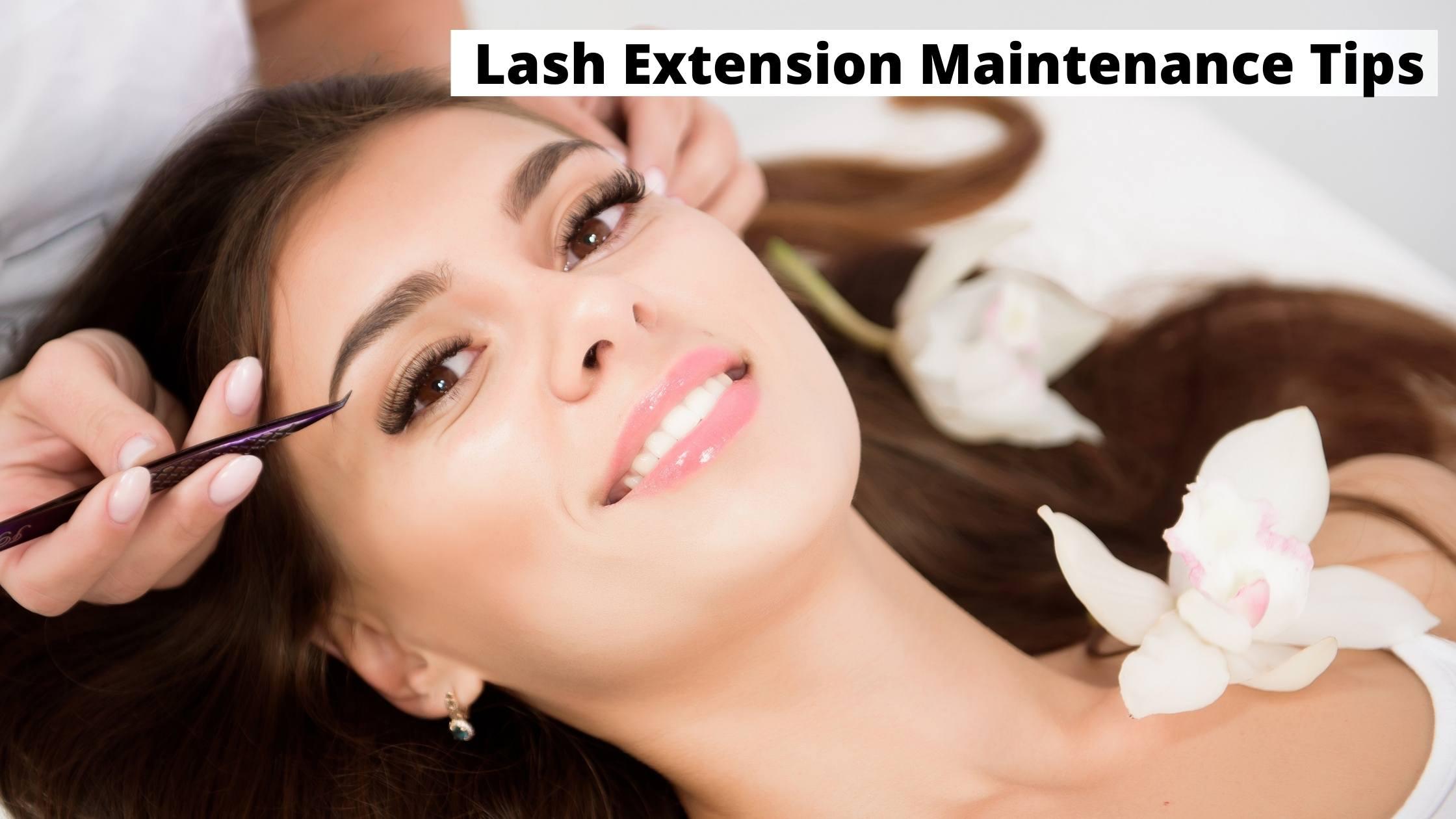 Lash Extension Maintenance Tips